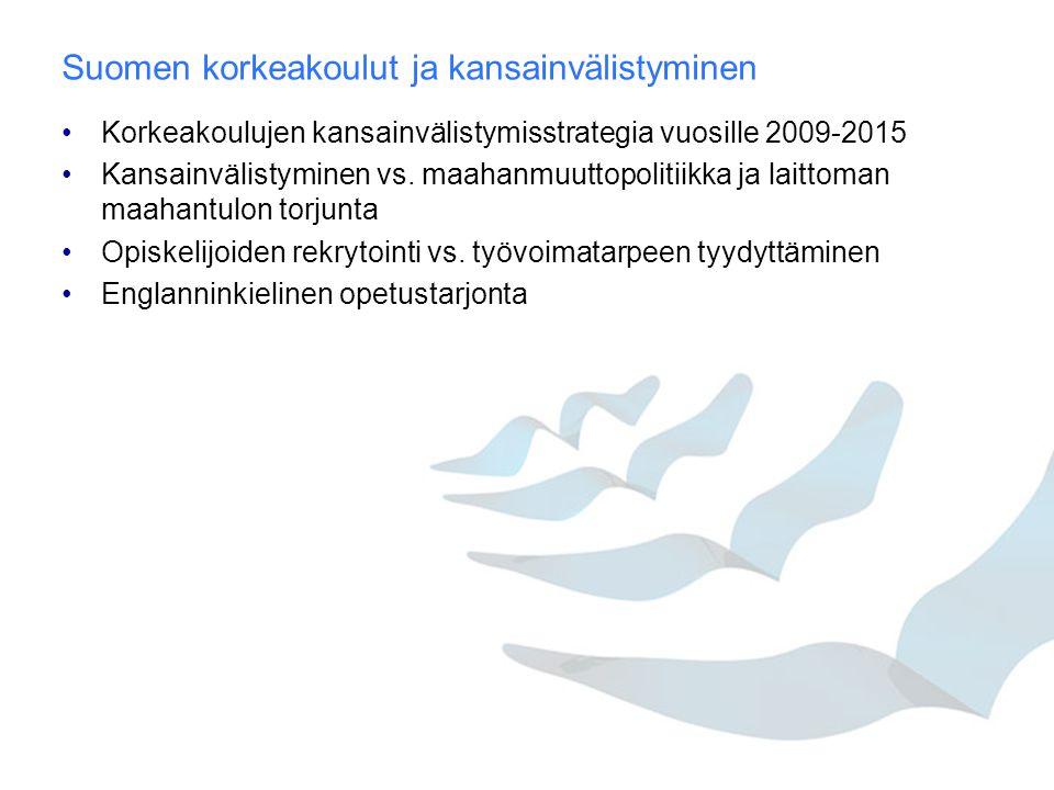 Suomen korkeakoulut ja kansainvälistyminen