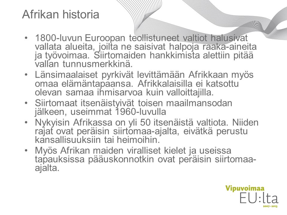 Afrikan historia
