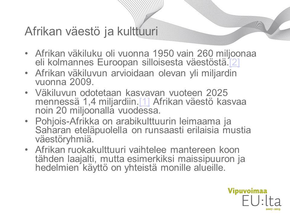 Afrikan väestö ja kulttuuri
