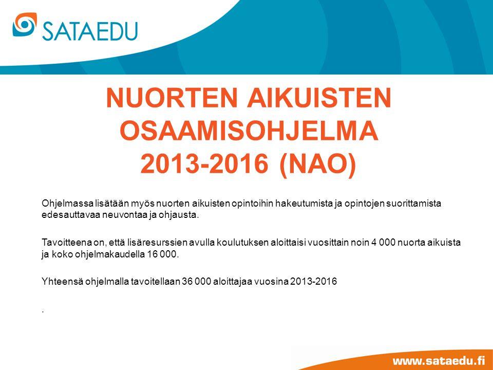 Nuorten aikuisten osaamisohjelma 2013-2016 (NAO)