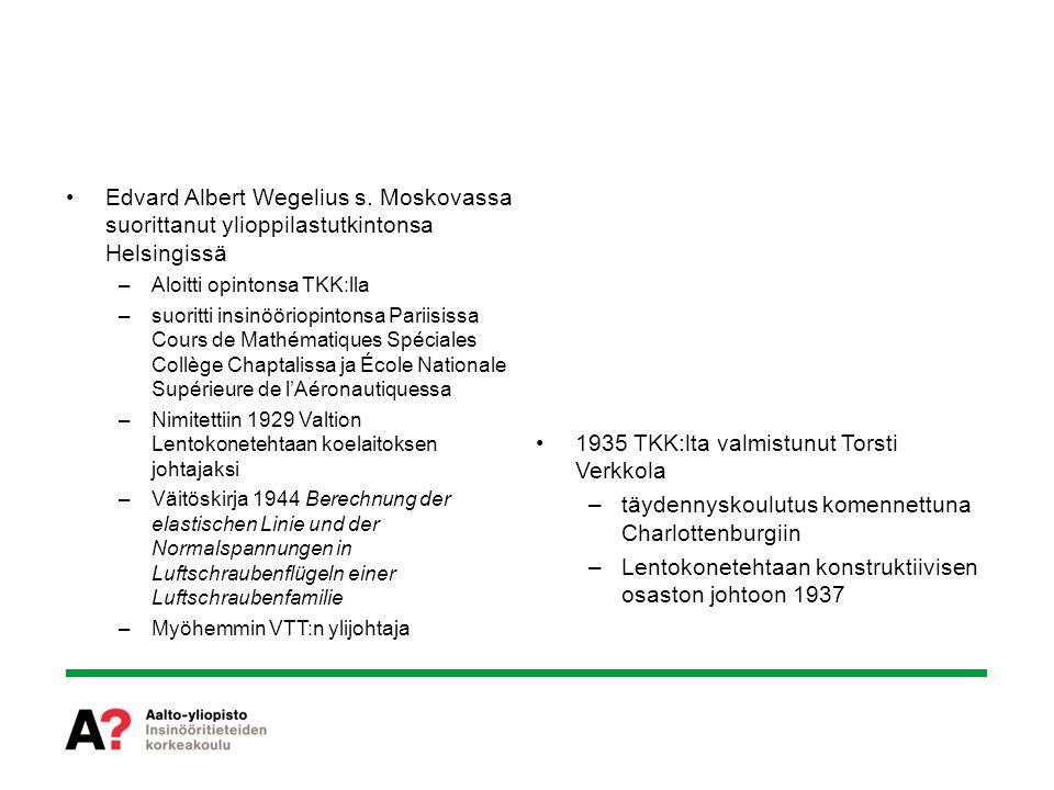 1935 TKK:lta valmistunut Torsti Verkkola