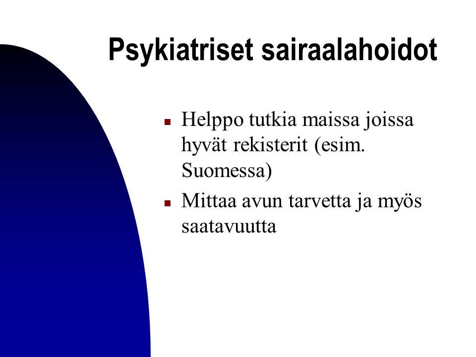 Psykiatriset sairaalahoidot