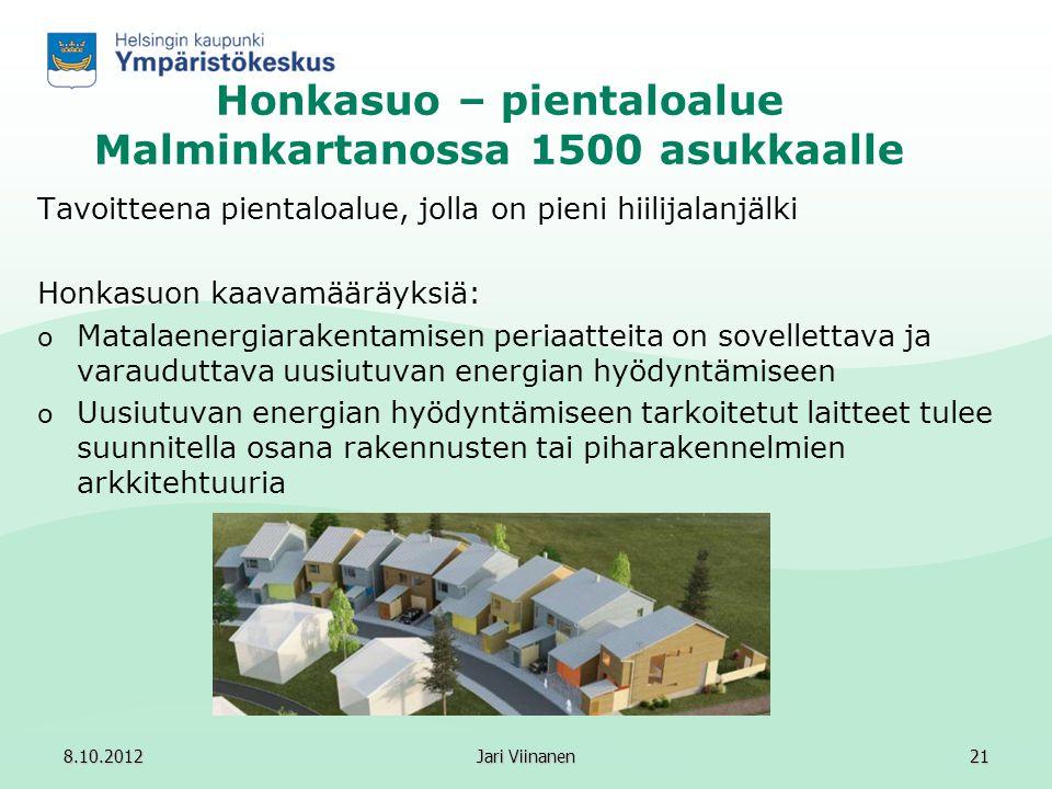 Honkasuo – pientaloalue Malminkartanossa 1500 asukkaalle