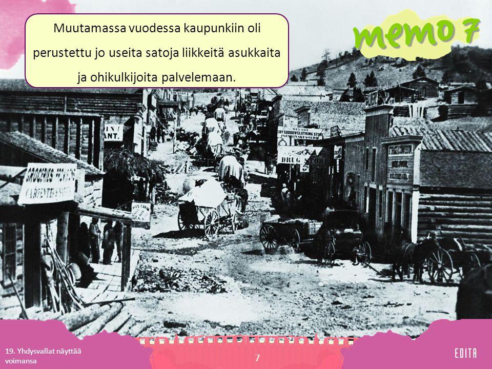 Muutamassa vuodessa kaupunkiin oli perustettu jo useita satoja liikkeitä asukkaita ja ohikulkijoita palvelemaan.