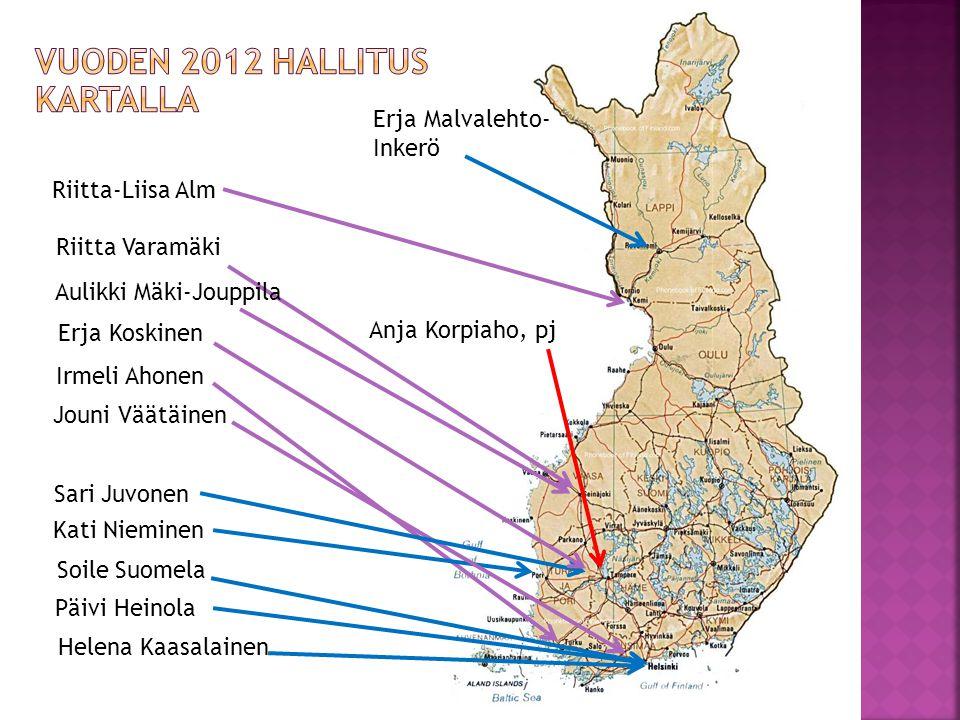 VUODEN 2012 HALLITUS KARTALLA