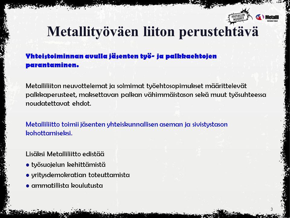 Metallityöväen liitto pähkinänkuoressa - ppt lataa