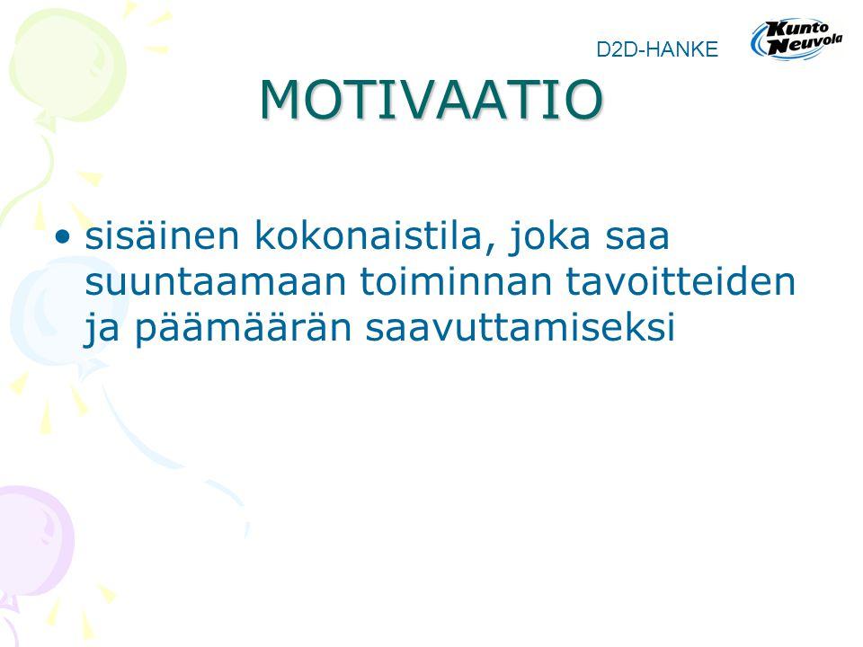 MOTIVAATIO D2D-HANKE.
