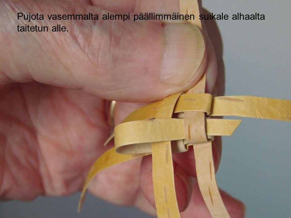 Pujota vasemmalta alempi päällimmäinen suikale alhaalta