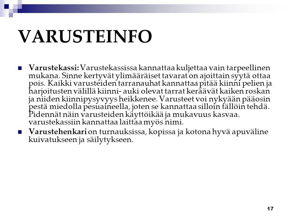 VARUSTEINFO