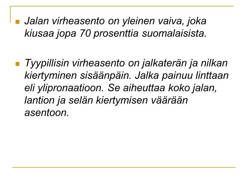 Jalan virheasento on yleinen vaiva, joka kiusaa jopa 70 prosenttia suomalaisista.