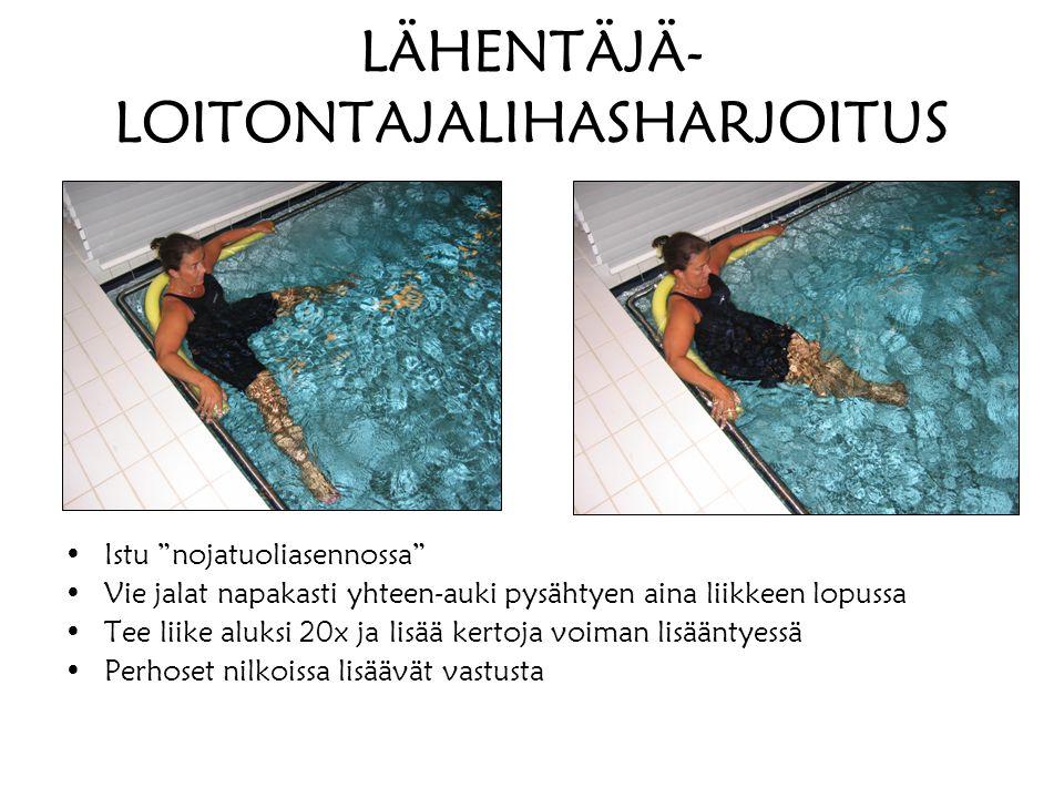 LÄHENTÄJÄ-LOITONTAJALIHASHARJOITUS