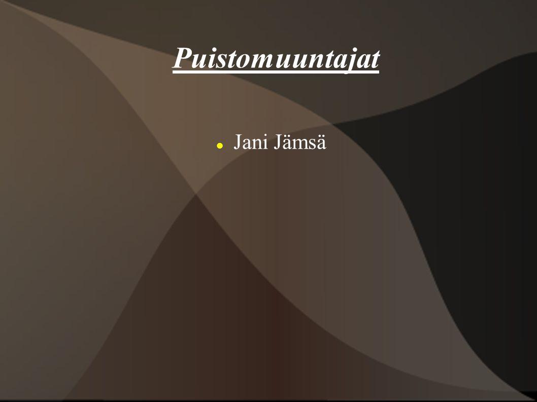 Puistomuuntajat Jani Jämsä