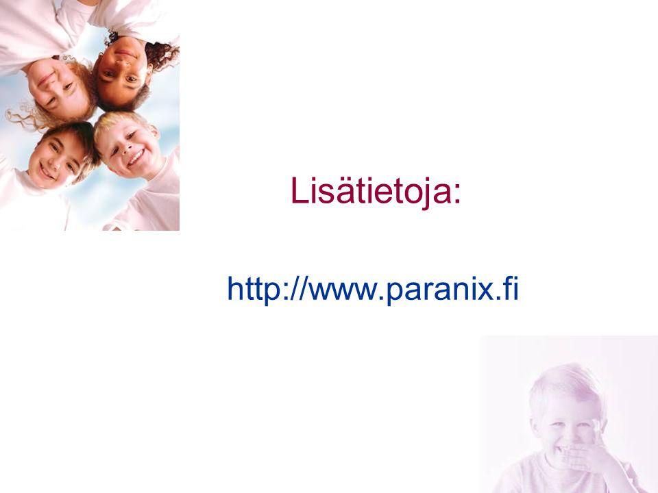 Lisätietoja: http://www.paranix.fi