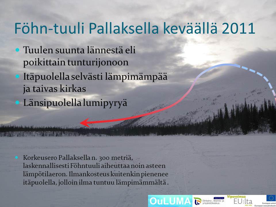 Föhn-tuuli Pallaksella keväällä 2011