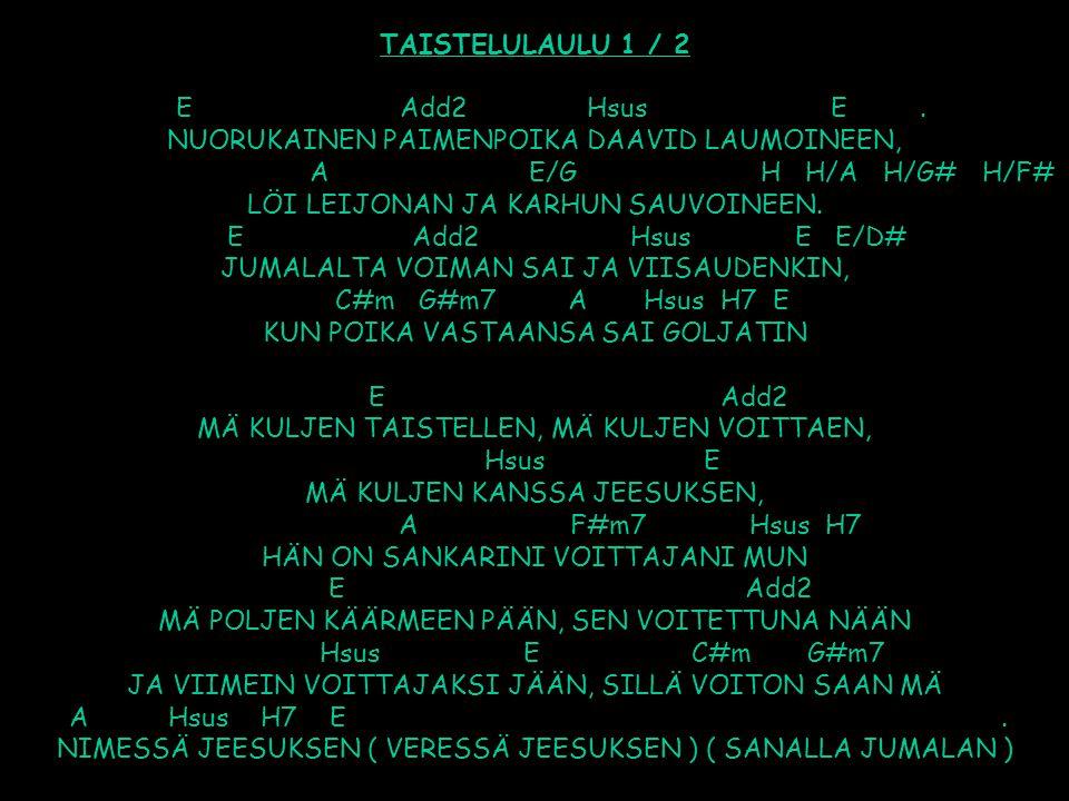 TAISTELULAULU 1 / 2 E Add2 Hsus E
