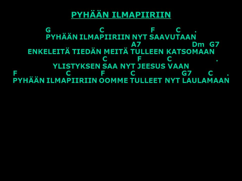 PYHÄÄN ILMAPIIRIIN G C F C