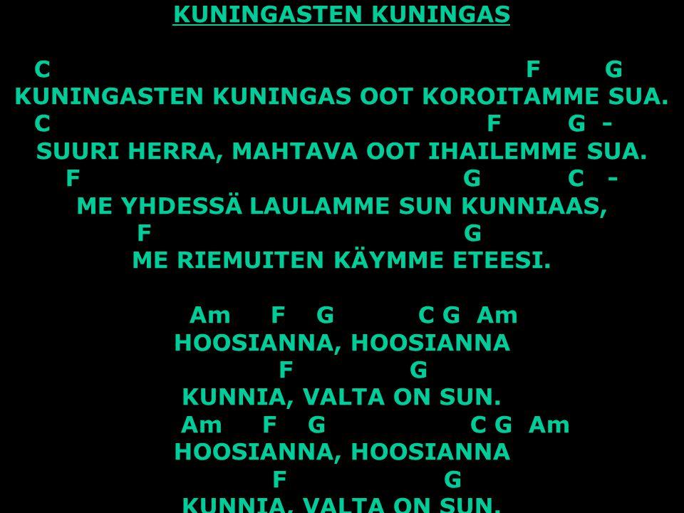 KUNINGASTEN KUNINGAS C. F. G. KUNINGASTEN KUNINGAS OOT KOROITAMME SUA