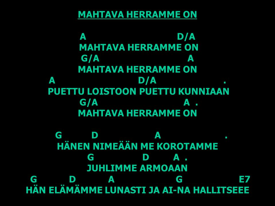 MAHTAVA HERRAMME ON A D/A MAHTAVA HERRAMME ON G/A A MAHTAVA HERRAMME ON A D/A .
