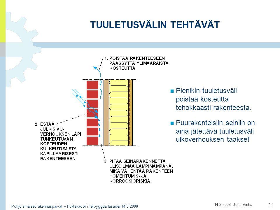 TUULETUSVÄLIN TEHTÄVÄT