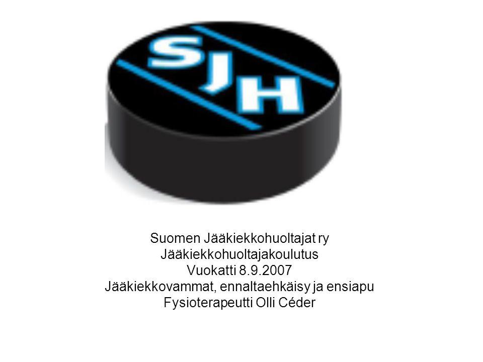 Suomen Jääkiekkohuoltajat ry Jääkiekkohuoltajakoulutus