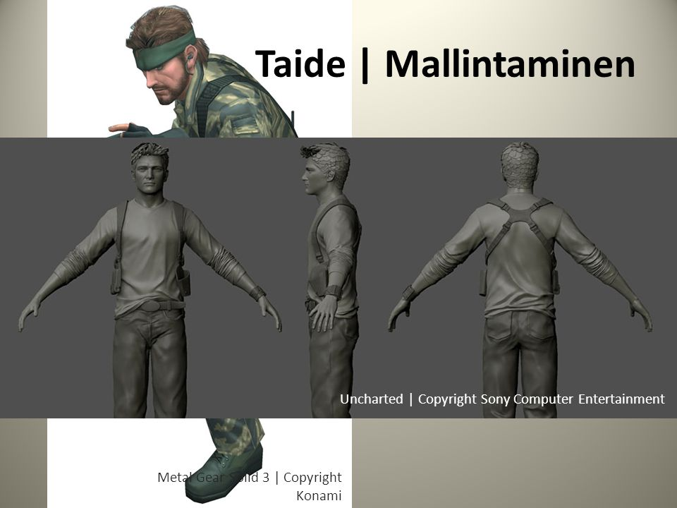 Taide | Mallintaminen Uncharted | Copyright Sony Computer Entertainment.