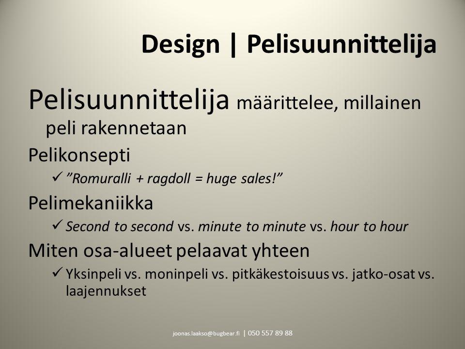 Design | Pelisuunnittelija