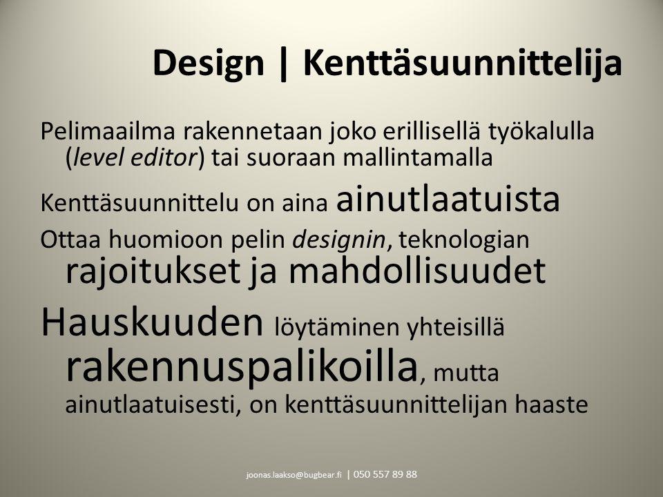 Design | Kenttäsuunnittelija