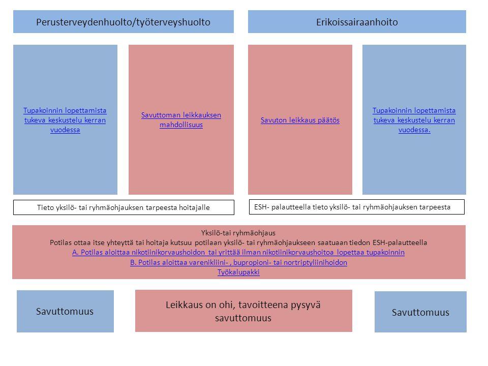 Perusterveydenhuolto/työterveyshuolto Erikoissairaanhoito