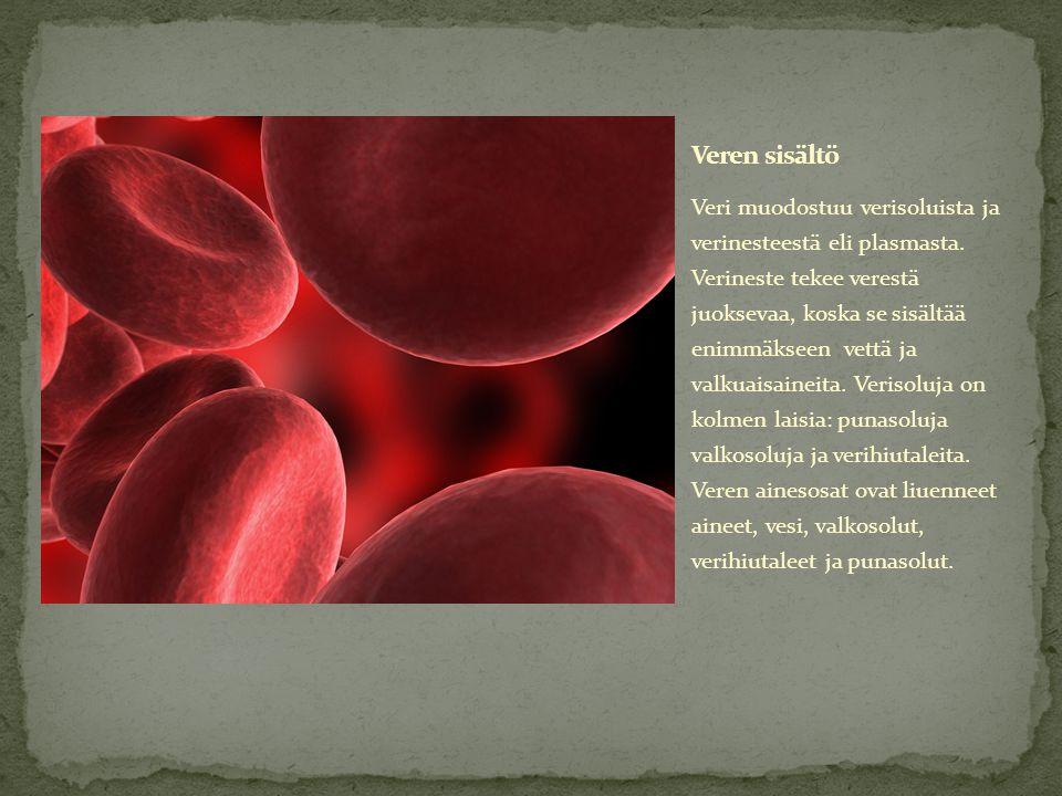 Veren sisältö