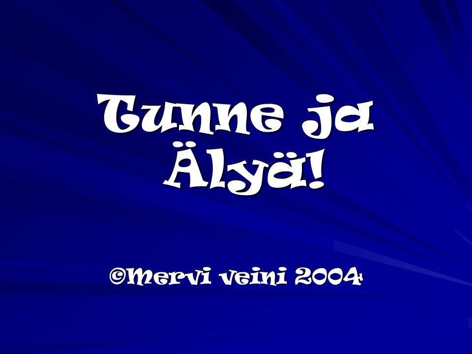 Tunne ja Älyä! ©Mervi veini 2004