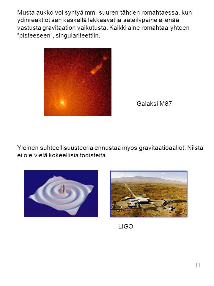 Musta aukko voi syntyä mm