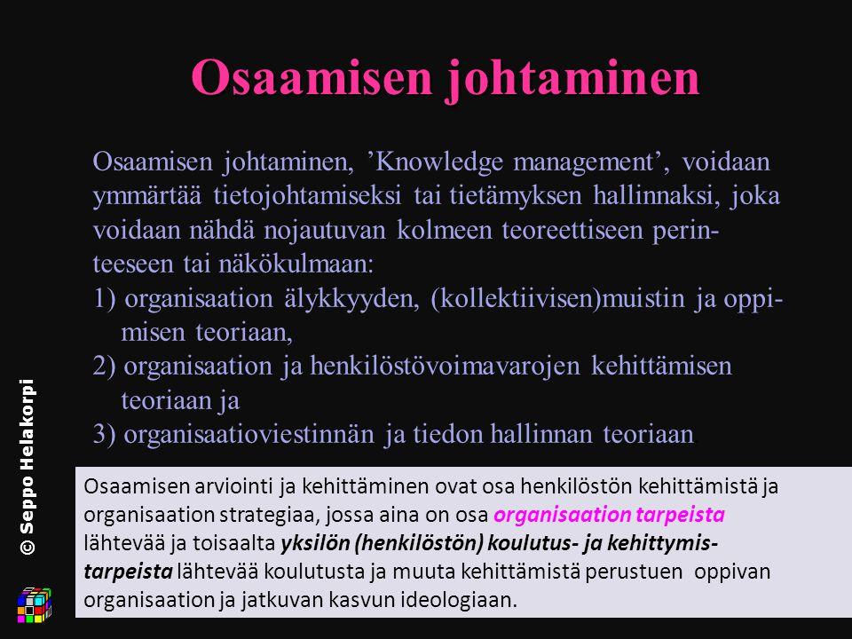 Yrityksen johtajan asiantuntijuus © Seppo Helakorpi - ppt lataa