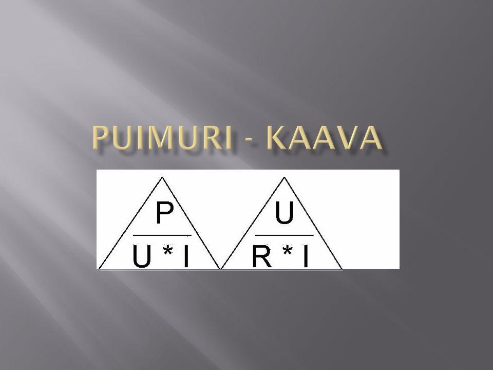 Puimuri - kaava