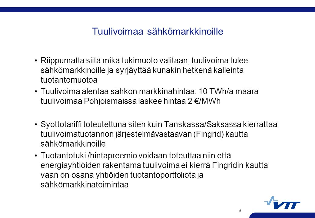 Tuulivoimaa sähkömarkkinoille