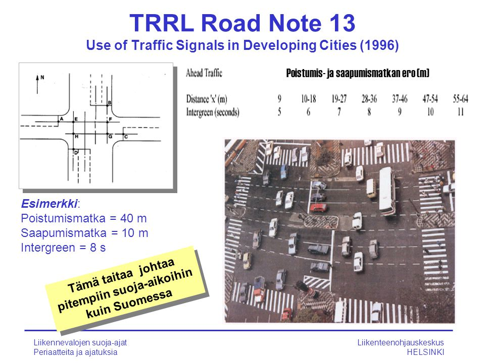 TRRL Road Note 13 Use of Traffic Signals in Developing Cities (1996)
