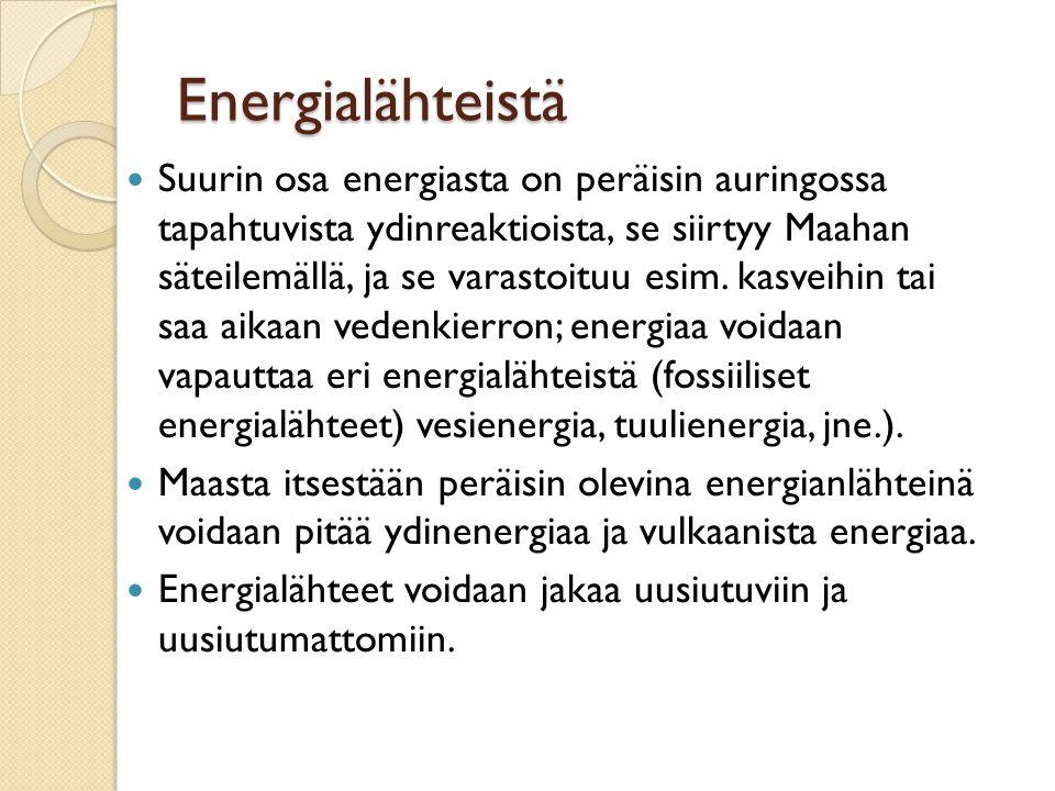 Energialähteistä