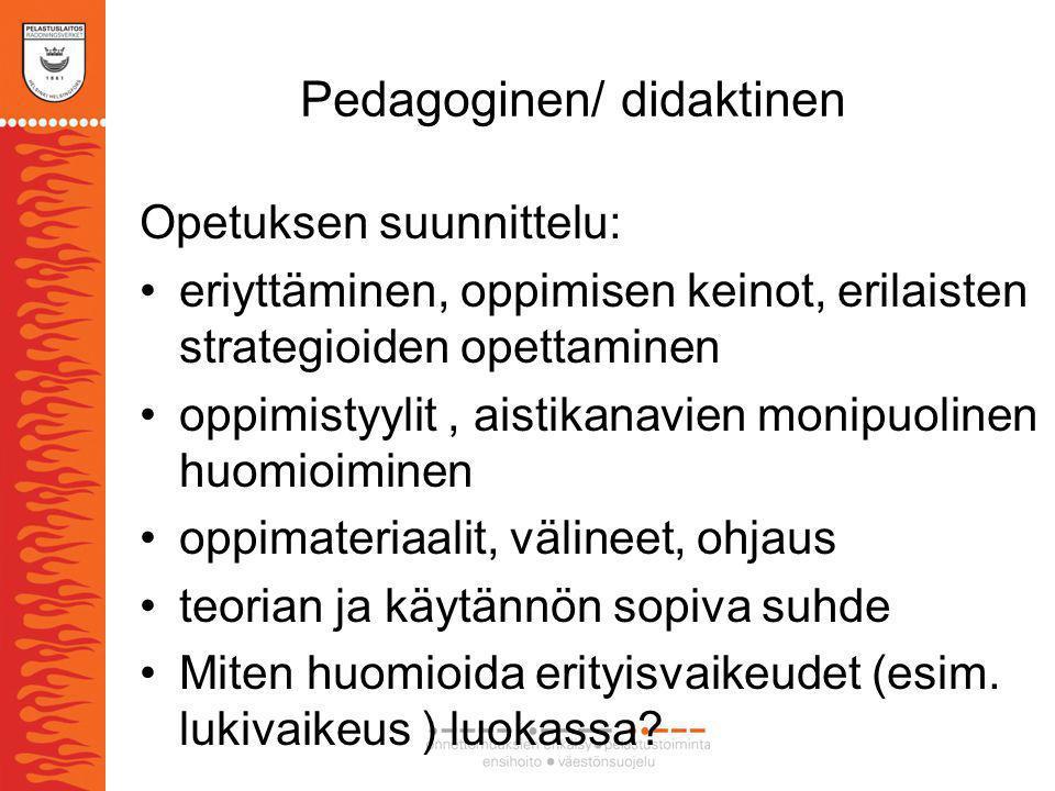 Pedagoginen/ didaktinen