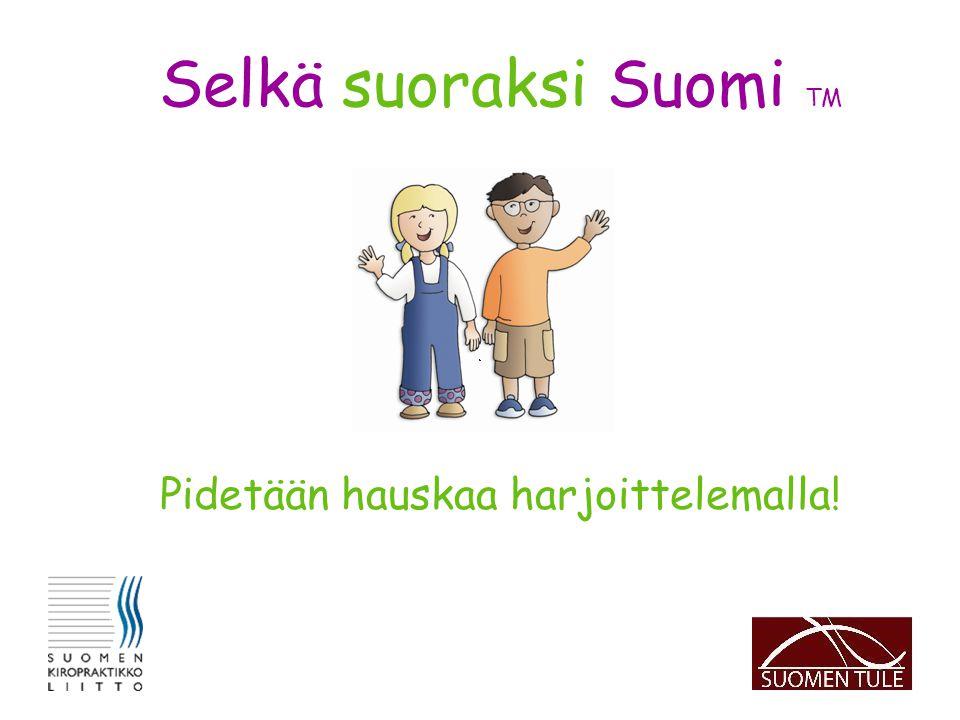 Selkä suoraksi Suomi TM