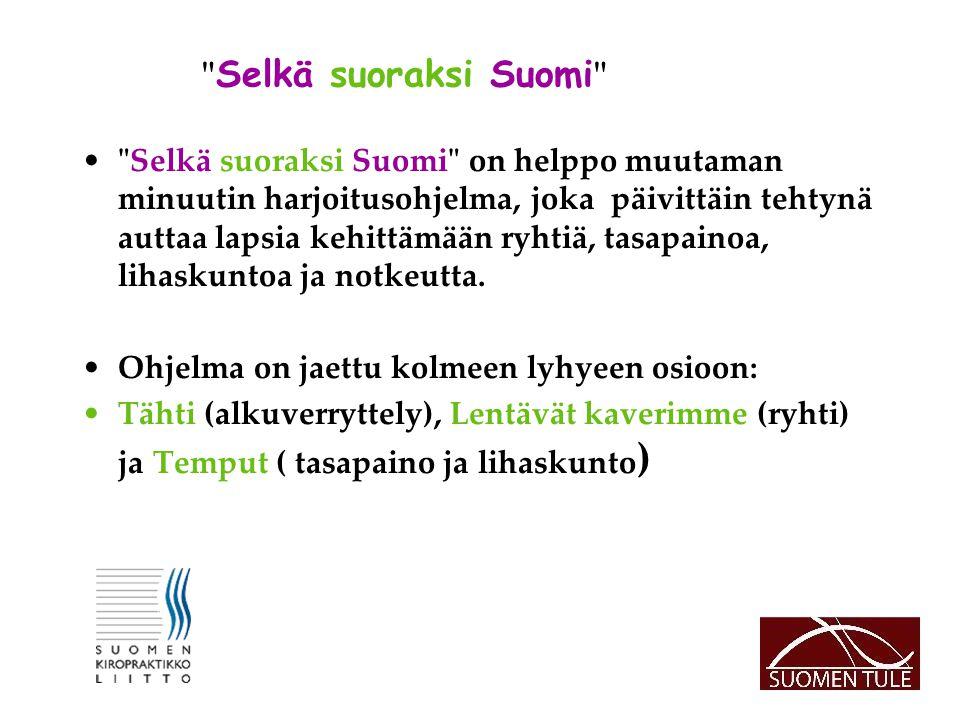 Selkä suoraksi Suomi