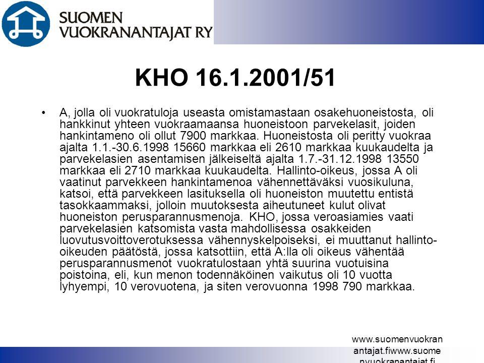KHO 16.1.2001/51