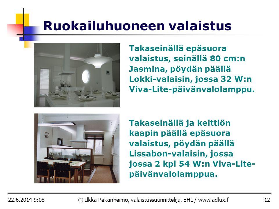 © Ilkka Pekanheimo, valaistussuunnittelija, EHL  AD Lux
