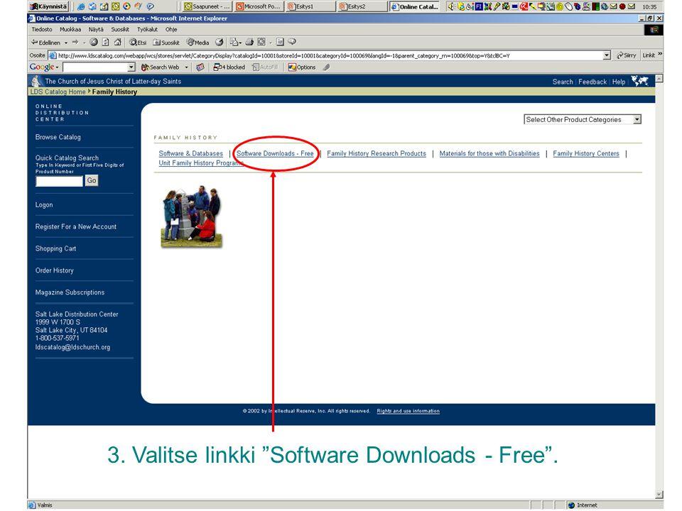 3. Valitse linkki Software Downloads - Free .