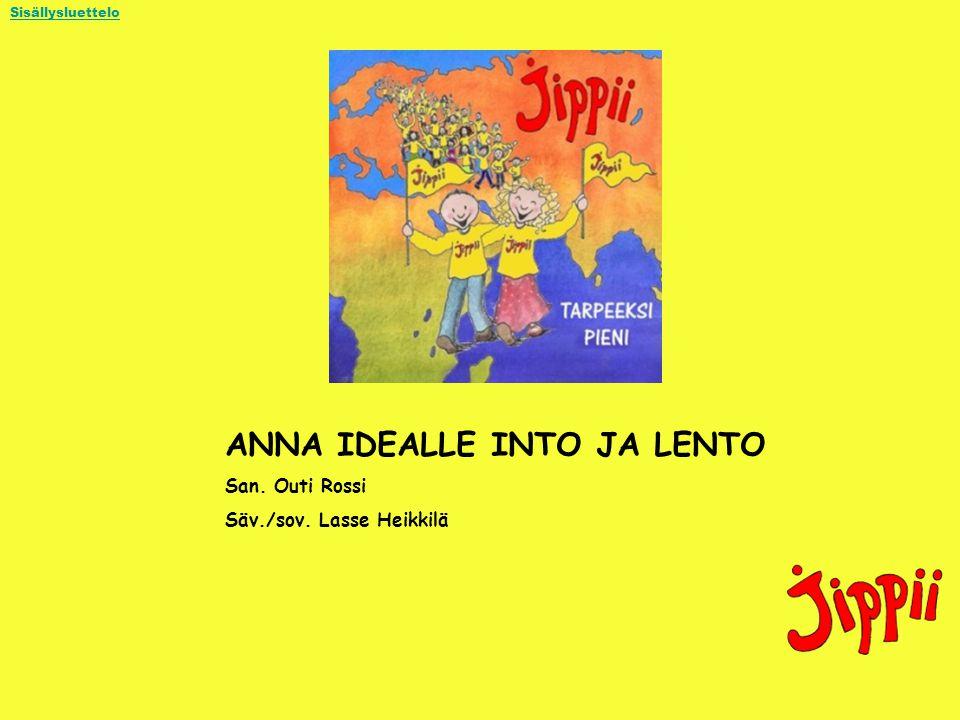 ANNA IDEALLE INTO JA LENTO