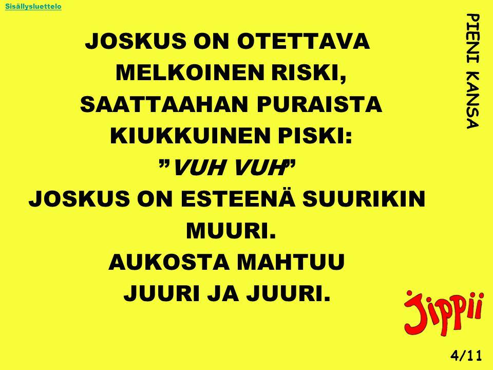 JOSKUS ON ESTEENÄ SUURIKIN