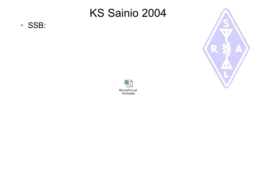 KS Sainio 2004 SSB: