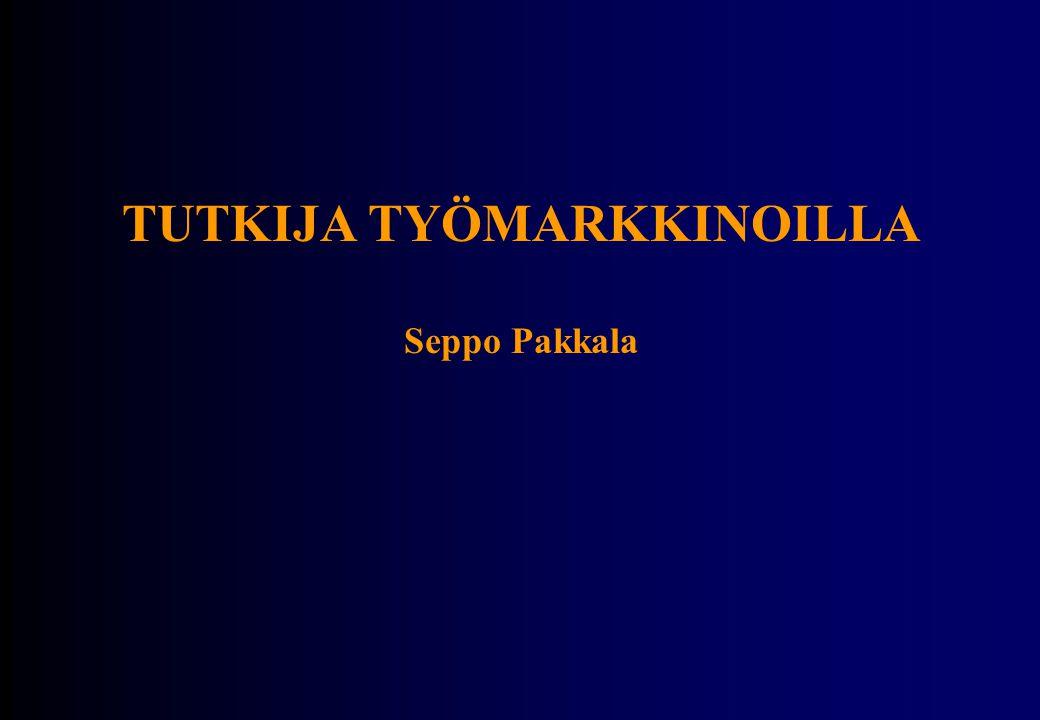 TUTKIJA TYÖMARKKINOILLA