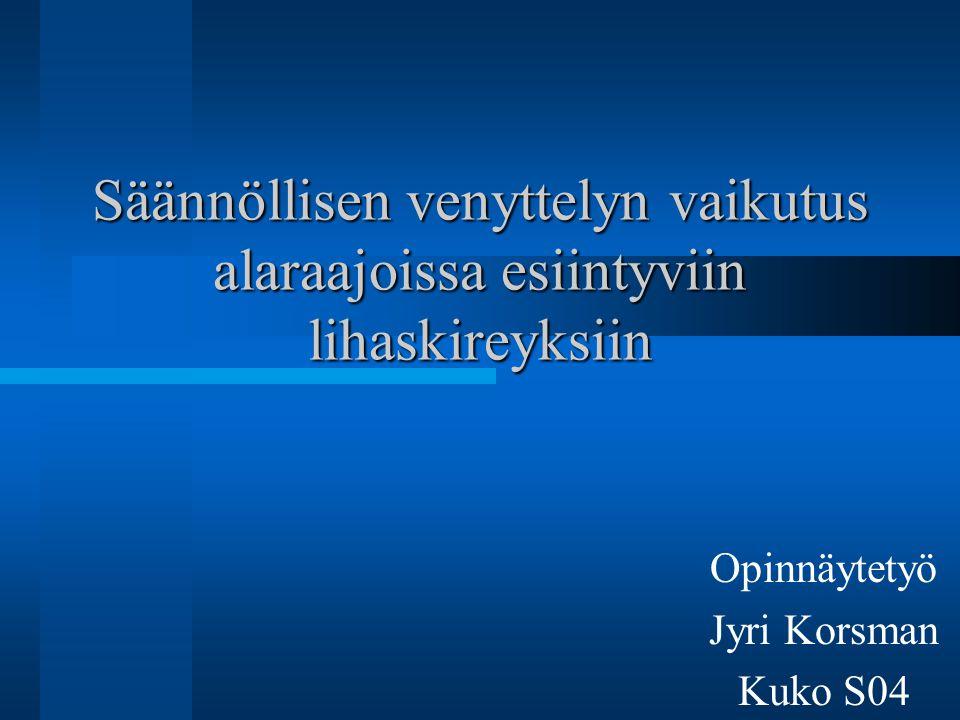 Opinnäytetyö Jyri Korsman Kuko S04