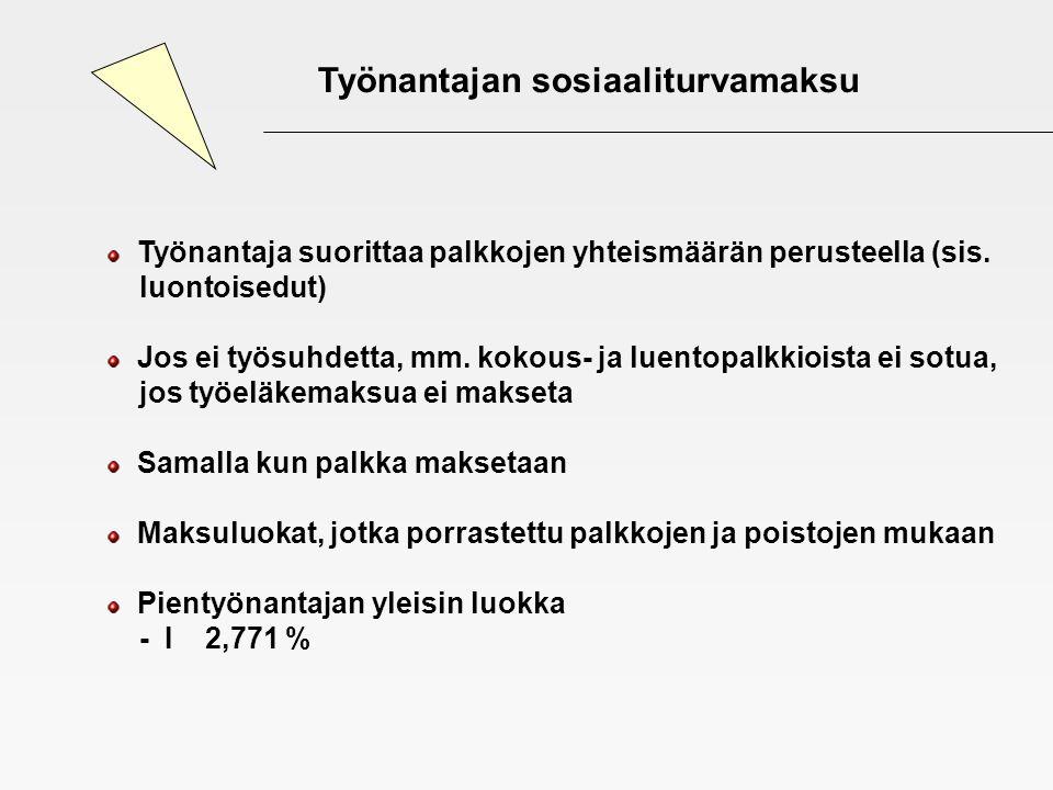 Työnantajan sosiaaliturvamaksu
