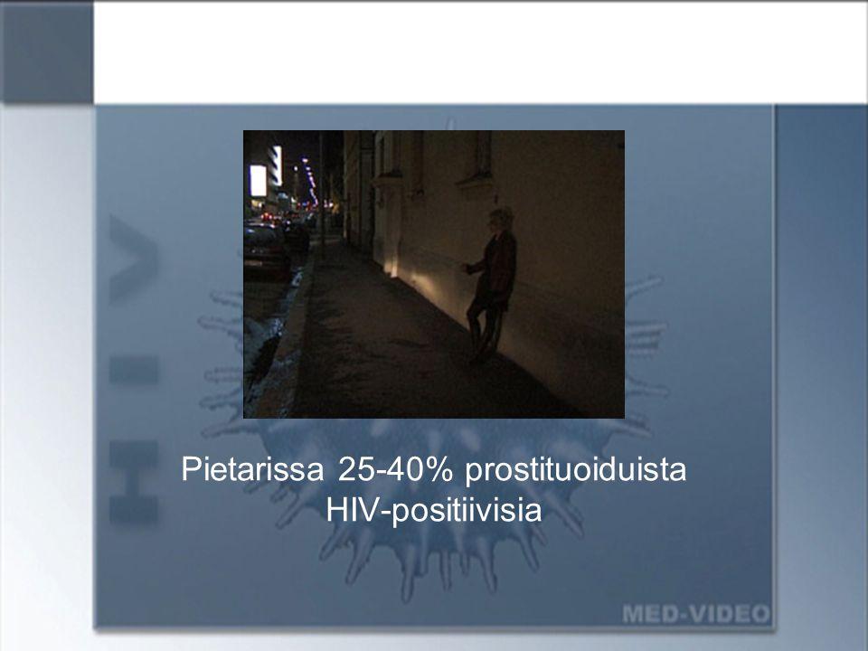 Pietarissa 25-40% prostituoiduista HIV-positiivisia