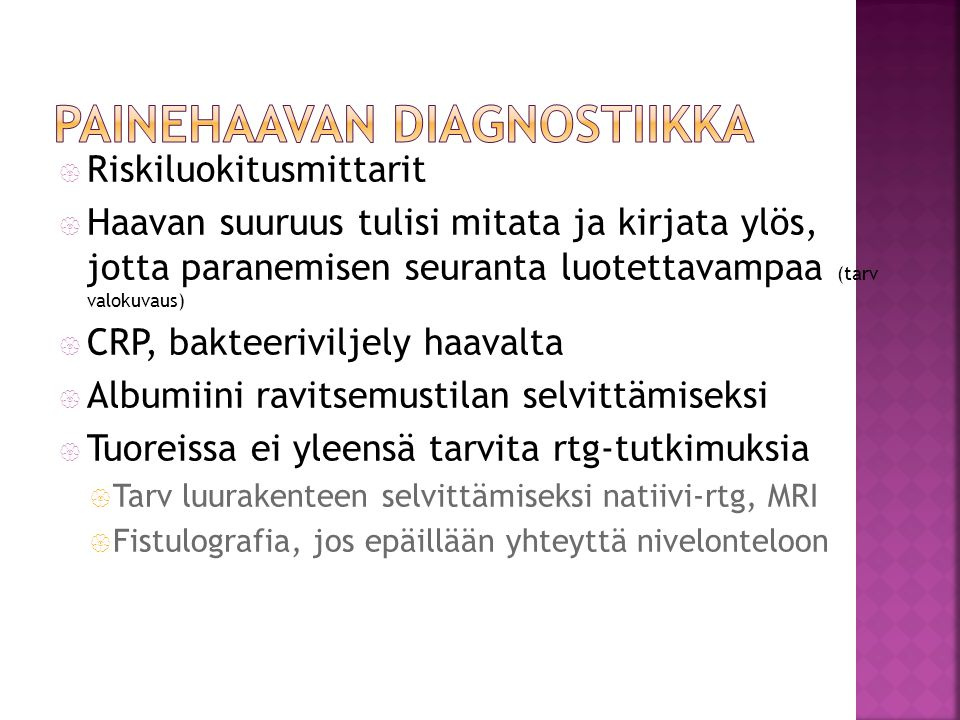 Painehaavan diagnostiikka
